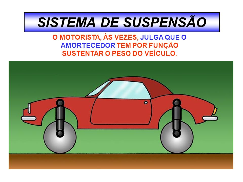 SISTEMA DE SUSPENSÃO O MOTORISTA, ÀS VEZES, JULGA QUE O