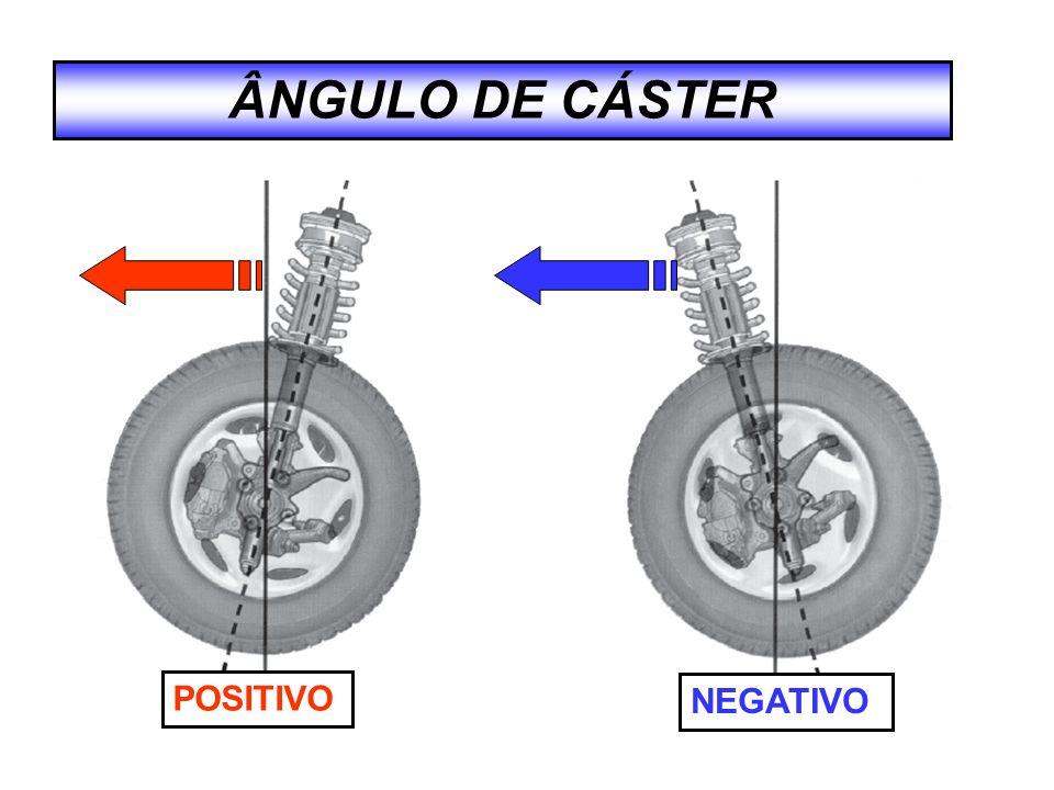 ÂNGULO DE CÁSTER POSITIVO NEGATIVO