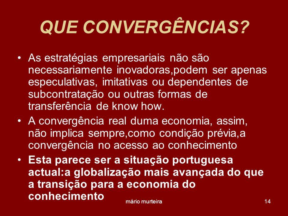 QUE CONVERGÊNCIAS