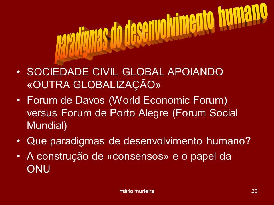 paradigmas do desenvolvimento humano