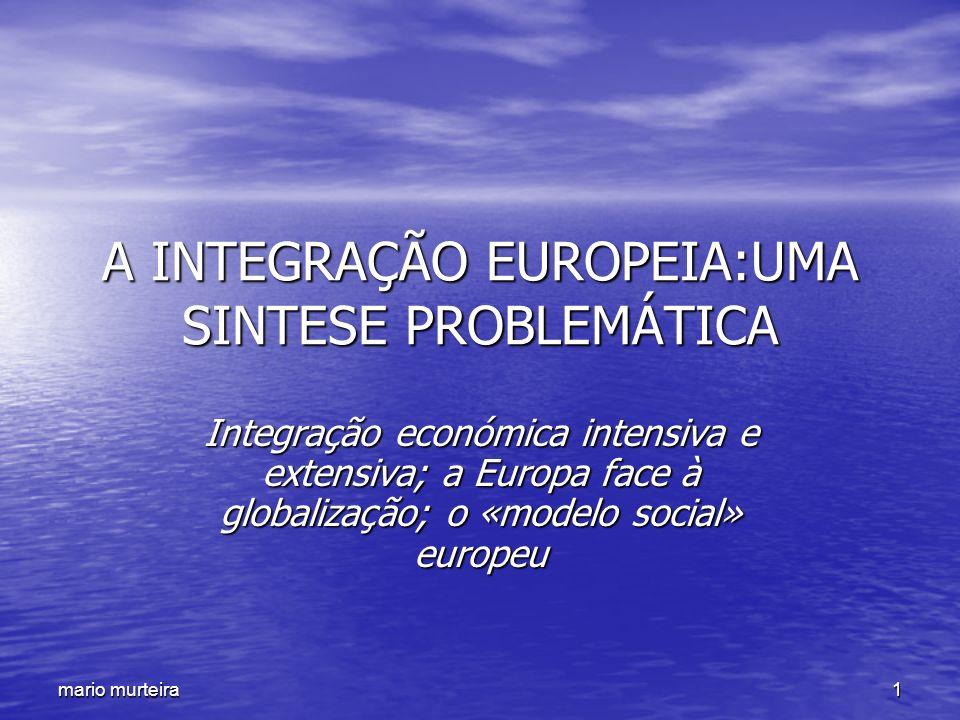 A INTEGRAÇÃO EUROPEIA:UMA SINTESE PROBLEMÁTICA