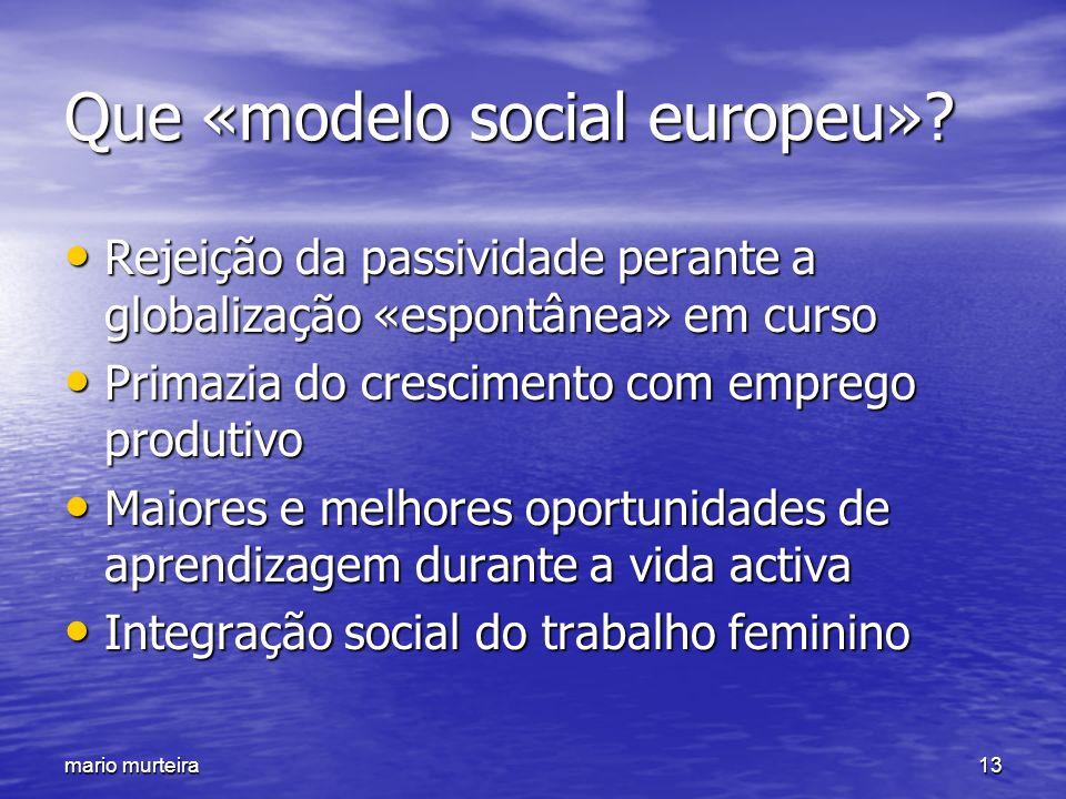Que «modelo social europeu»