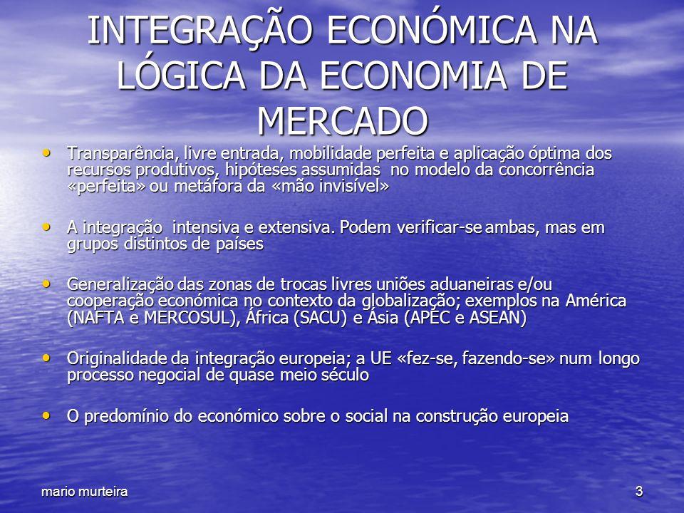 INTEGRAÇÃO ECONÓMICA NA LÓGICA DA ECONOMIA DE MERCADO