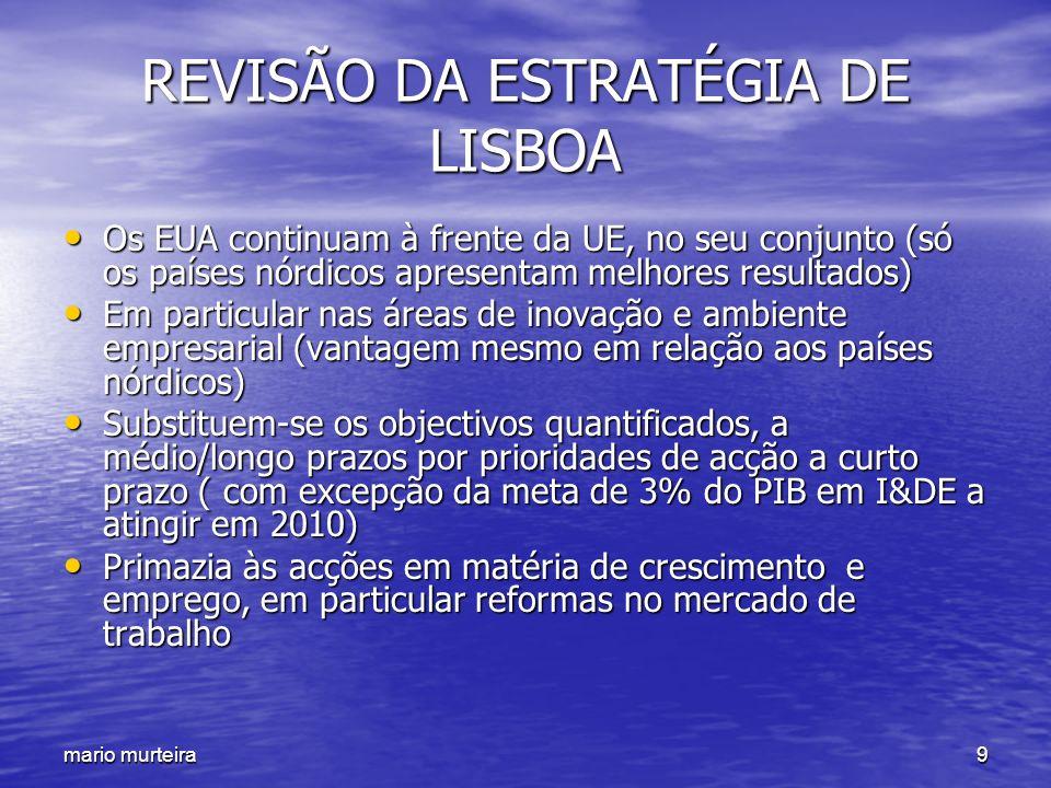 REVISÃO DA ESTRATÉGIA DE LISBOA