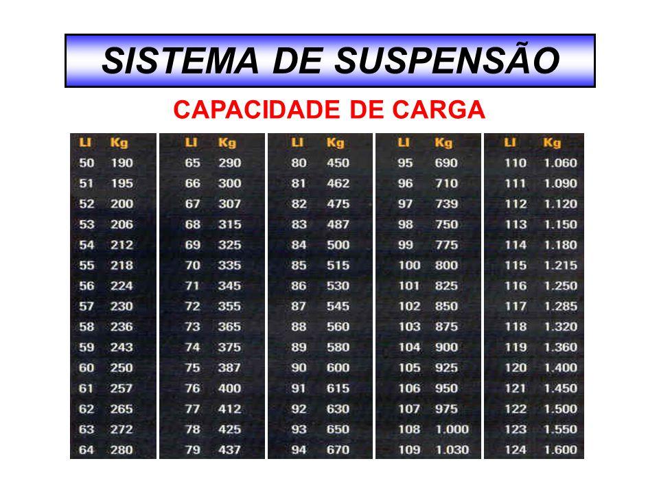 SISTEMA DE SUSPENSÃO CAPACIDADE DE CARGA