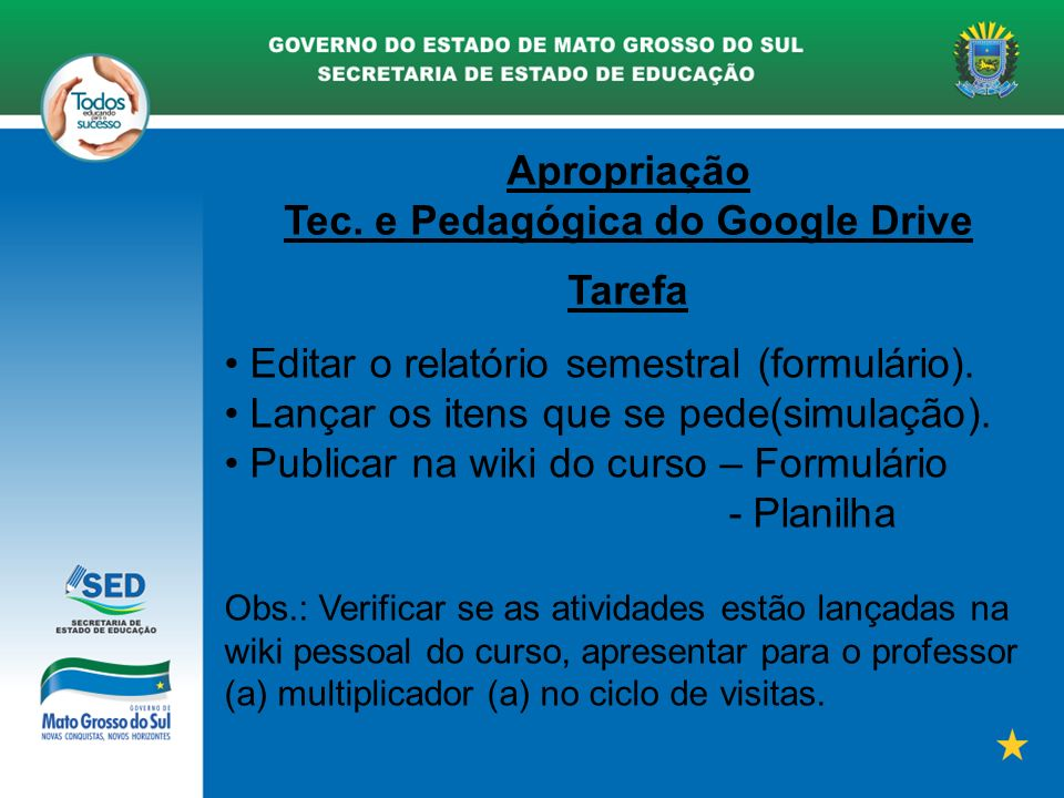 Tec. e Pedagógica do Google Drive