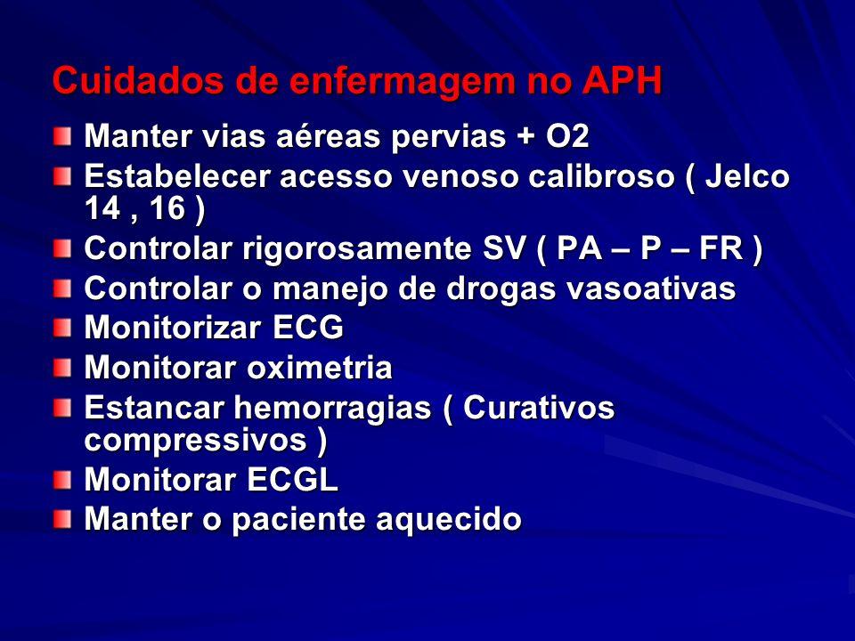 Cuidados de enfermagem no APH