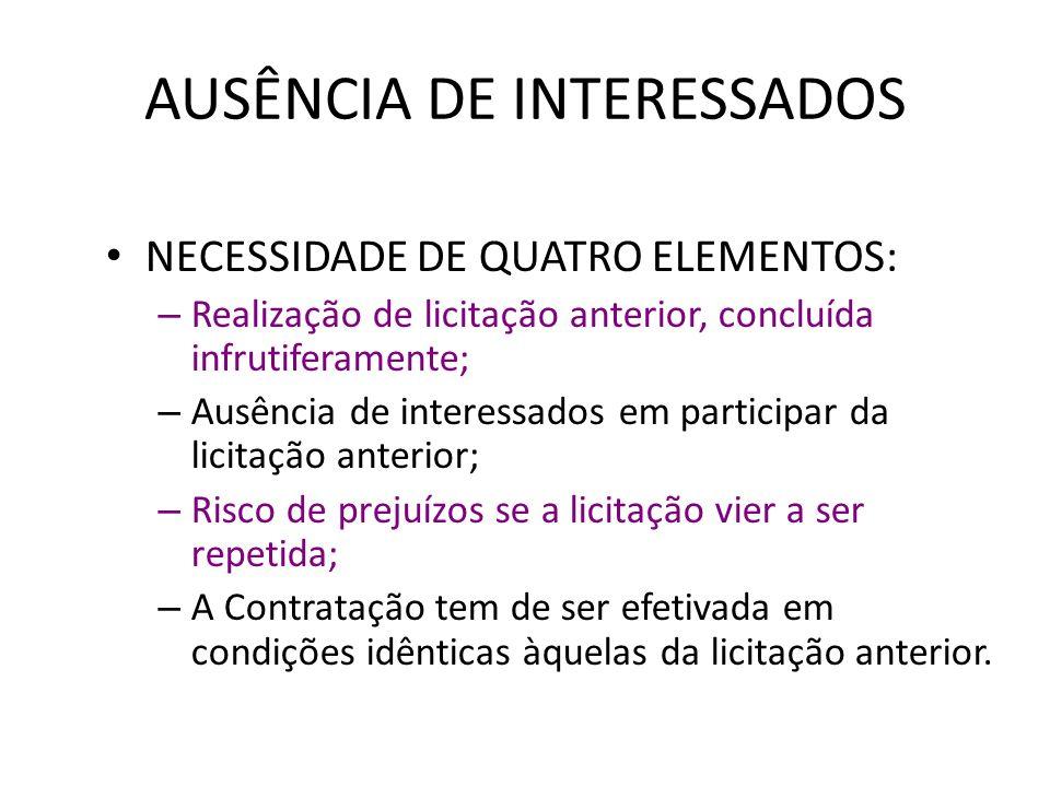 AUSÊNCIA DE INTERESSADOS