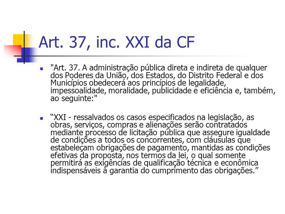 Art. 37, inc. XXI da CF