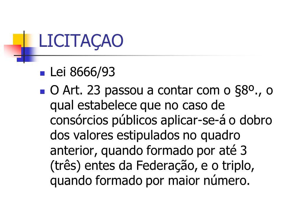 LICITAÇAO Lei 8666/93.