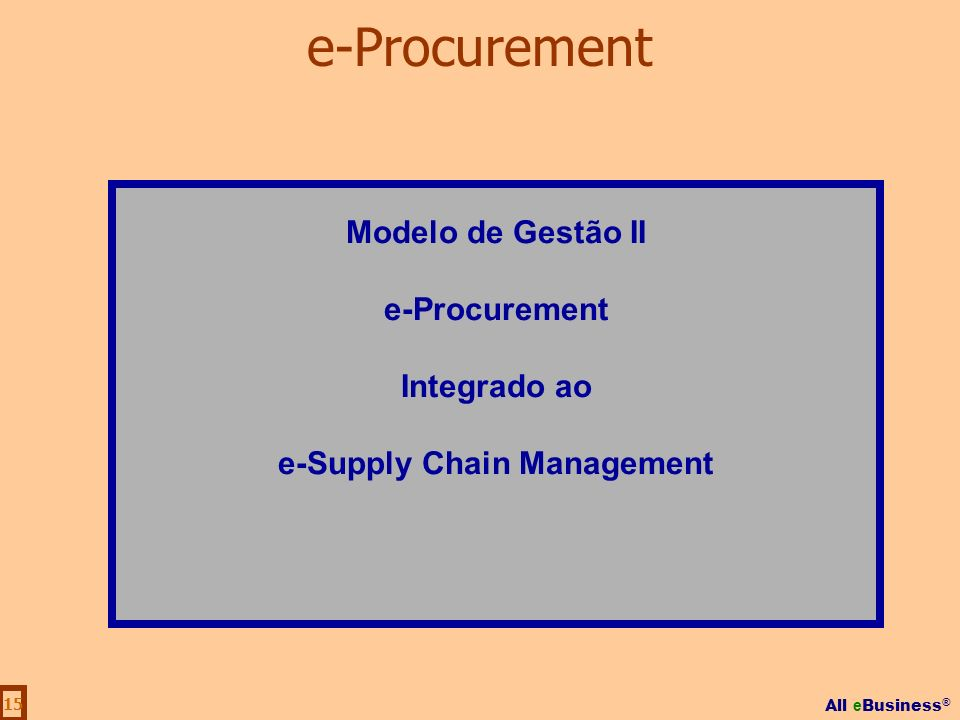 e-Supply Chain Management