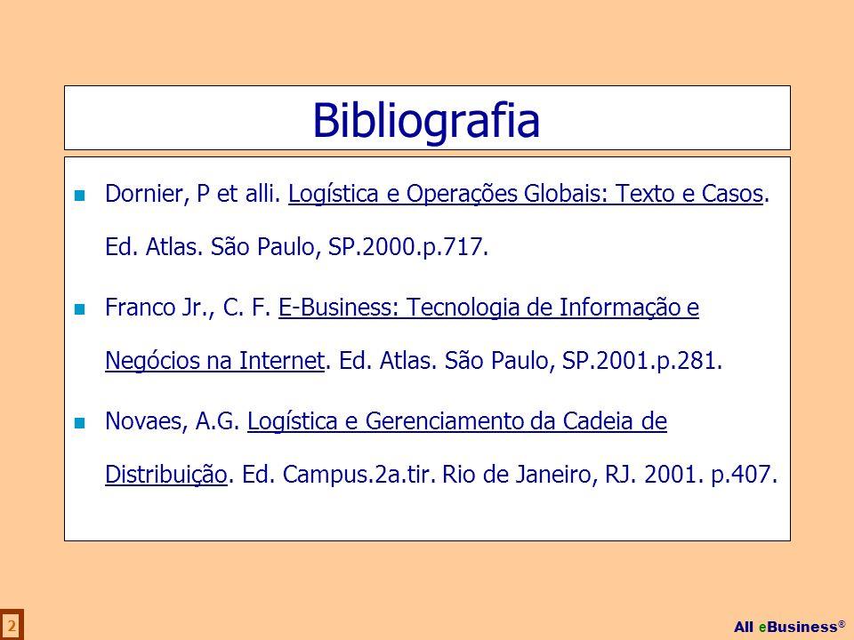 BibliografiaDornier, P et alli. Logística e Operações Globais: Texto e Casos. Ed. Atlas. São Paulo, SP.2000.p.717.