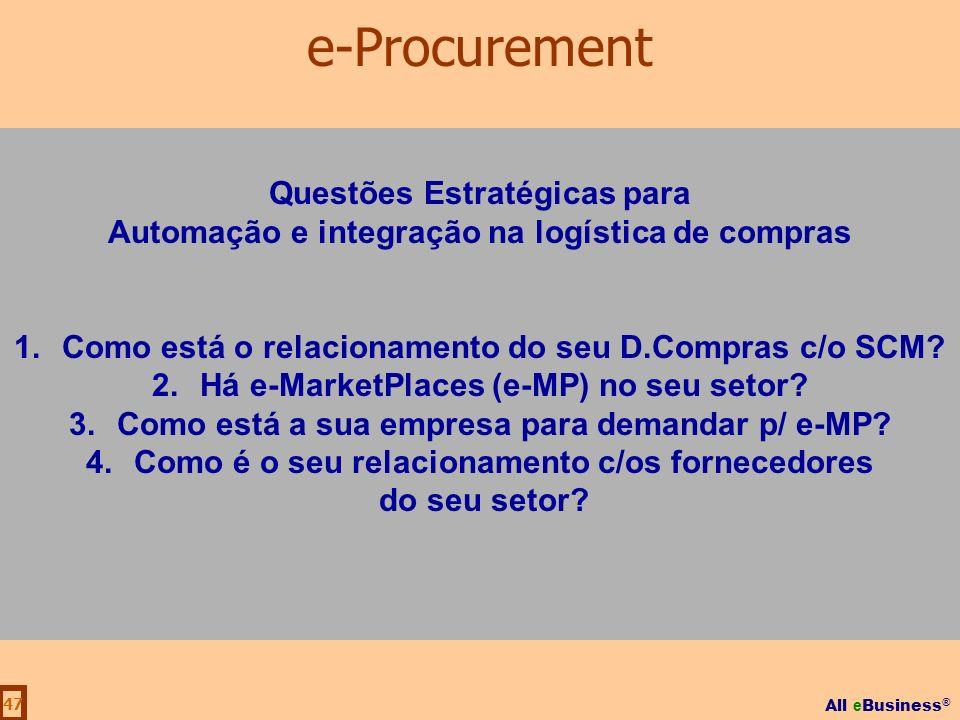 e-Procurement Questões Estratégicas para