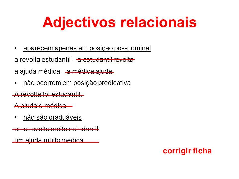 Adjectivos relacionais