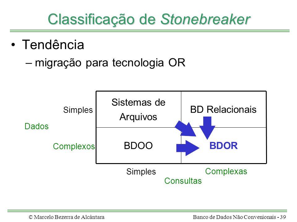 Classificação de Stonebreaker