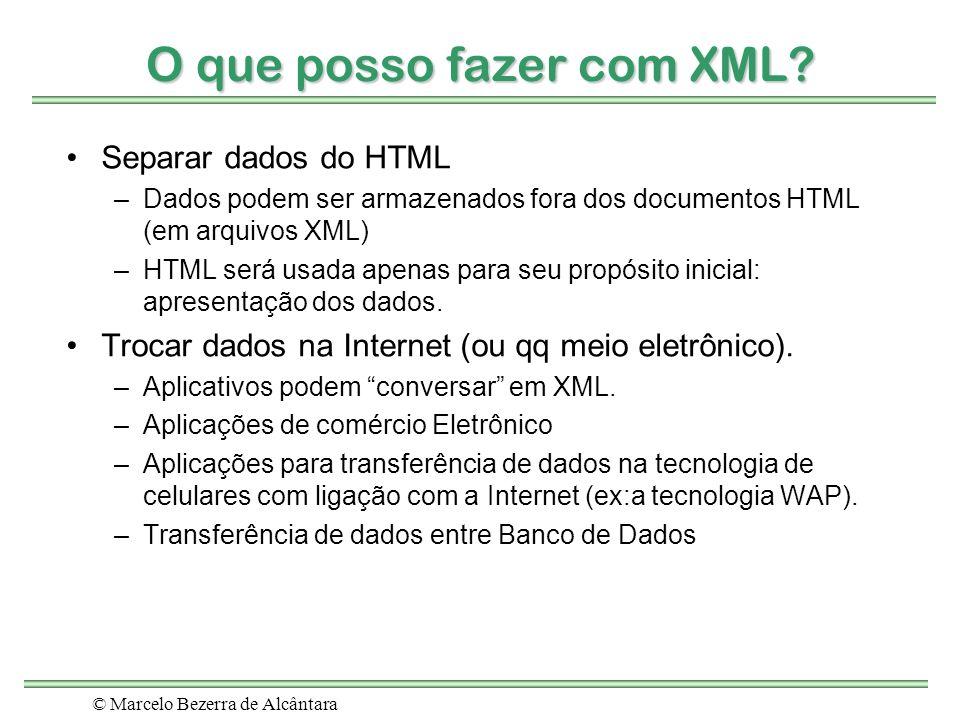 O que posso fazer com XML