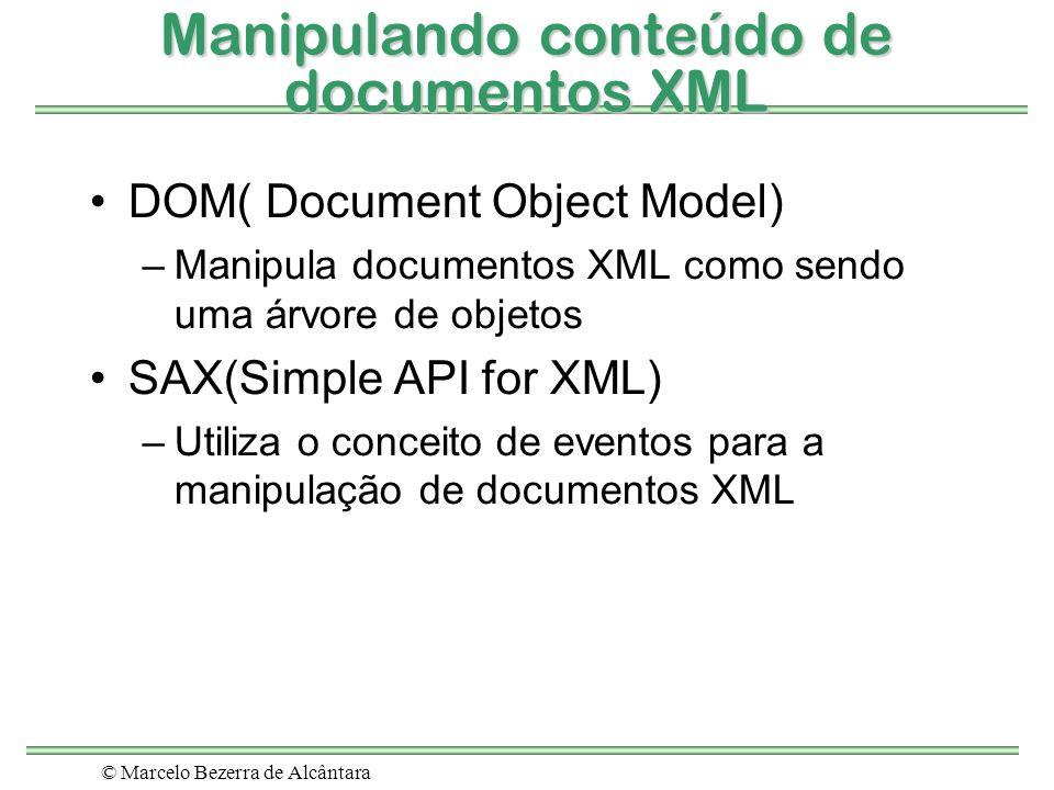 Manipulando conteúdo de documentos XML