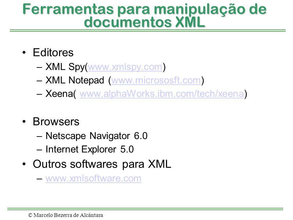Ferramentas para manipulação de documentos XML