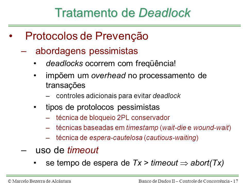 Tratamento de Deadlock