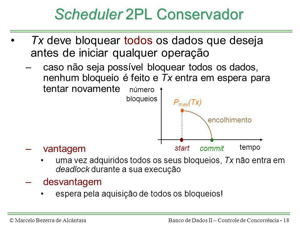 Scheduler 2PL Conservador