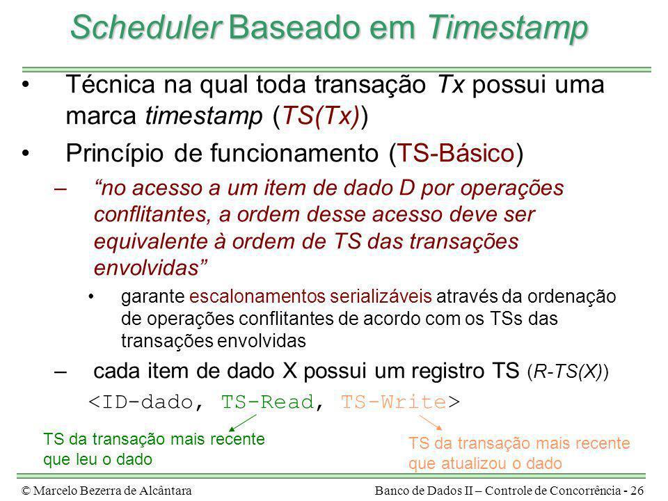 Scheduler Baseado em Timestamp