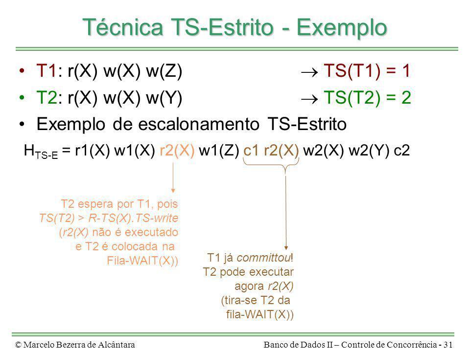 Técnica TS-Estrito - Exemplo