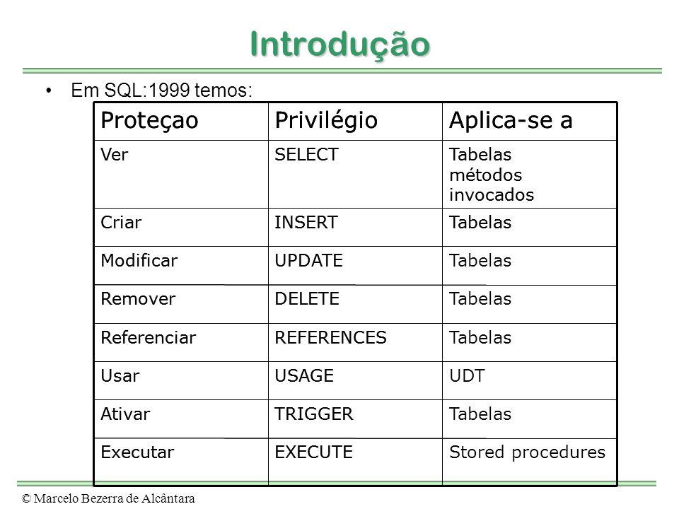 Introdução Aplica-se a Privilégio Proteçao Aplica-se a Privilégio