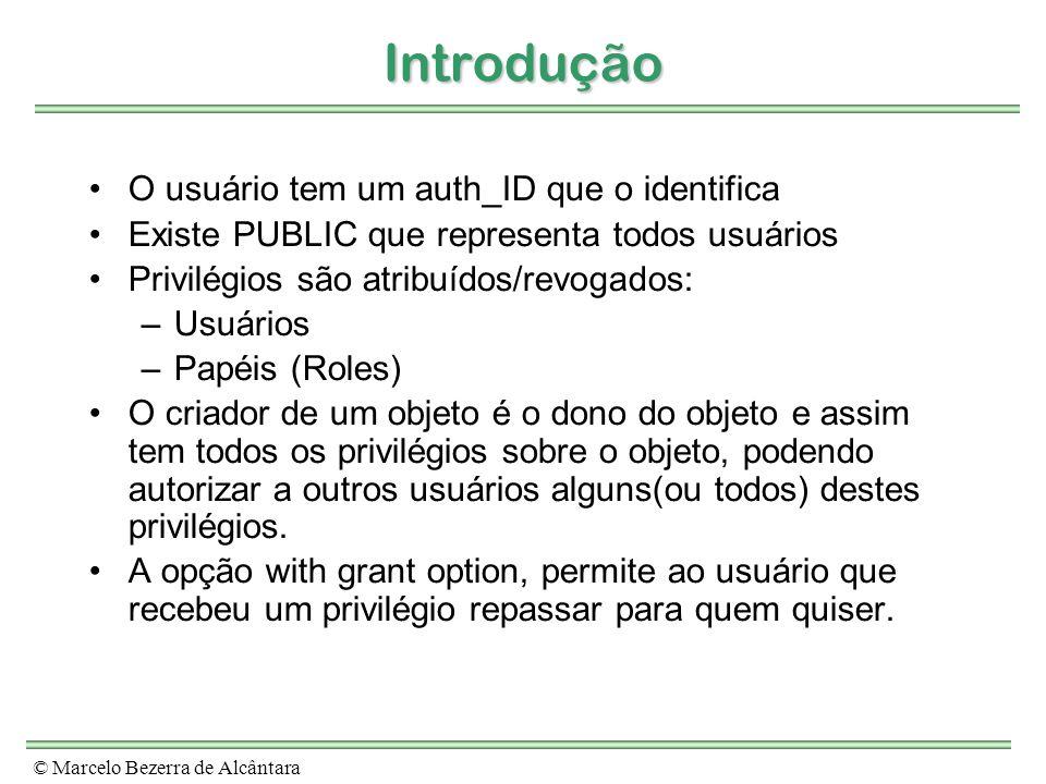 Introdução O usuário tem um auth_ID que o identifica
