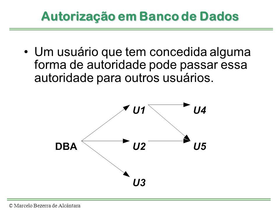 Autorização em Banco de Dados