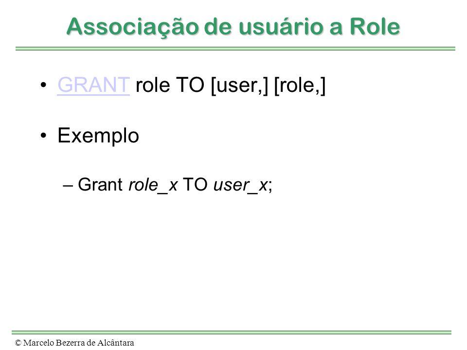 Associação de usuário a Role