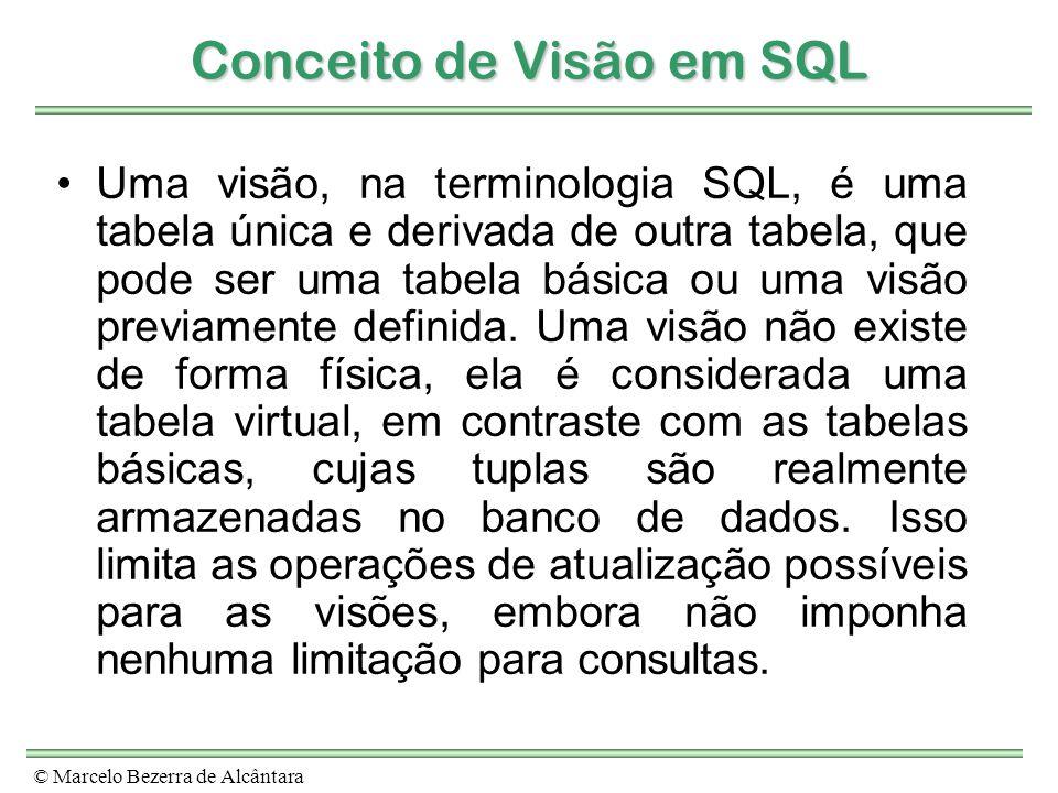 Conceito de Visão em SQL