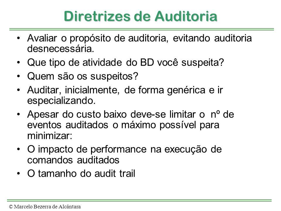Diretrizes de Auditoria