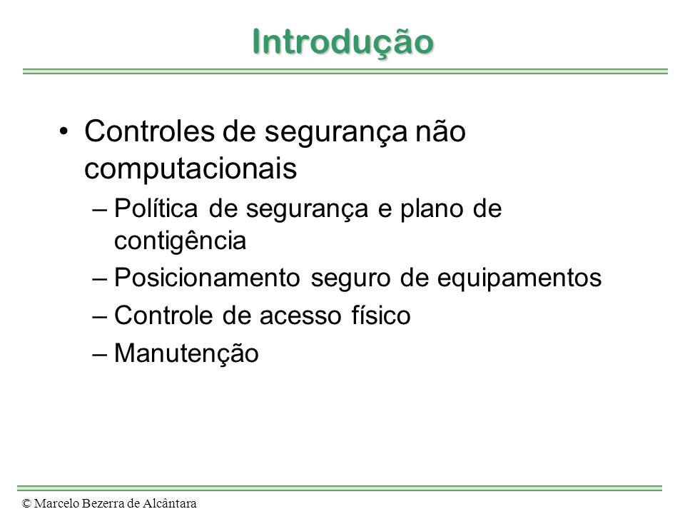 Introdução Controles de segurança não computacionais