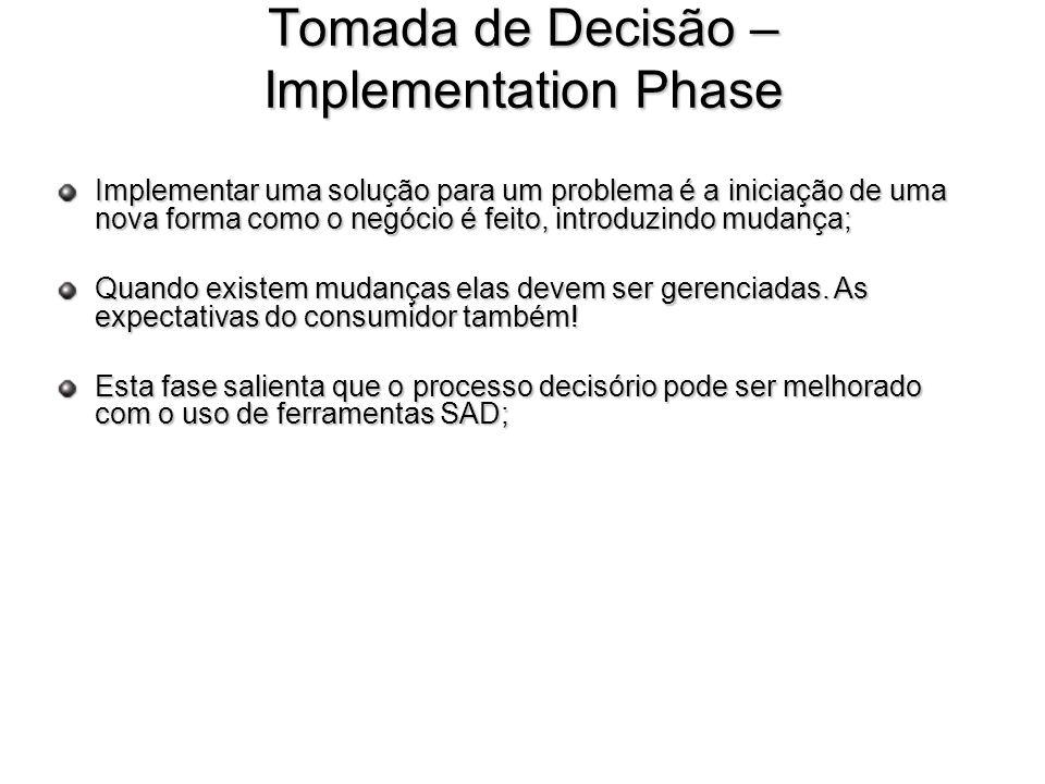 Tomada de Decisão – Implementation Phase