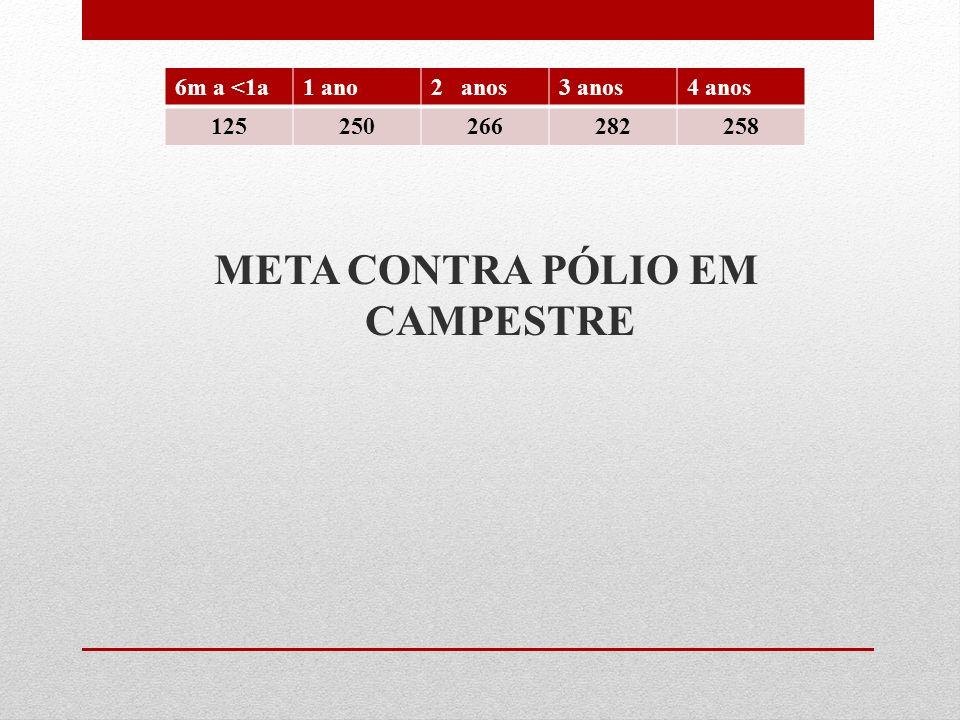META CONTRA PÓLIO EM CAMPESTRE