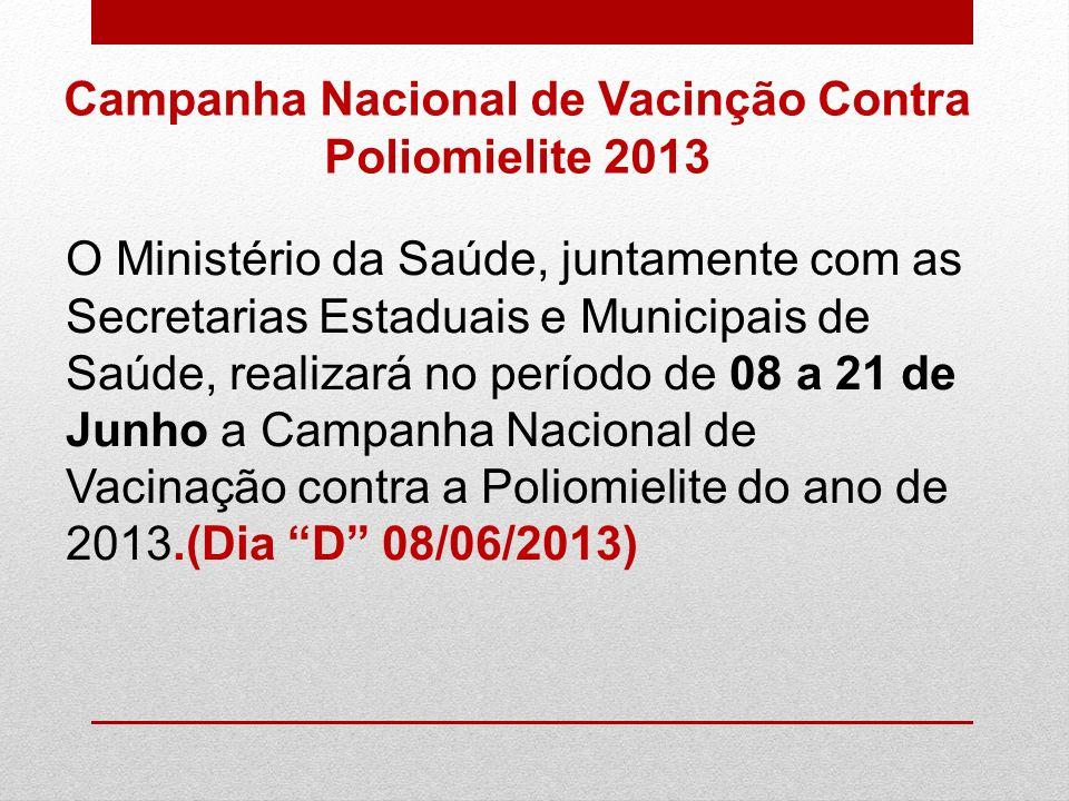 Campanha Nacional de Vacinção Contra Poliomielite 2013