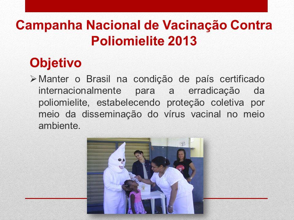 Campanha Nacional de Vacinação Contra Poliomielite 2013
