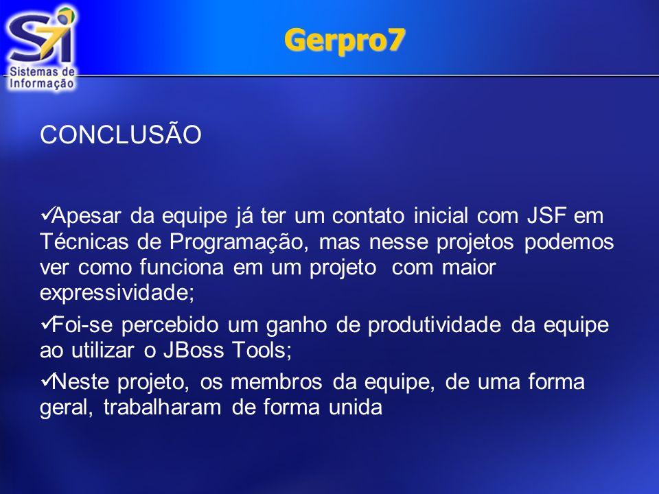 Gerpro7 CONCLUSÃO.