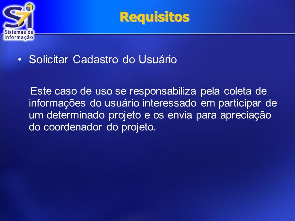 Requisitos Solicitar Cadastro do Usuário