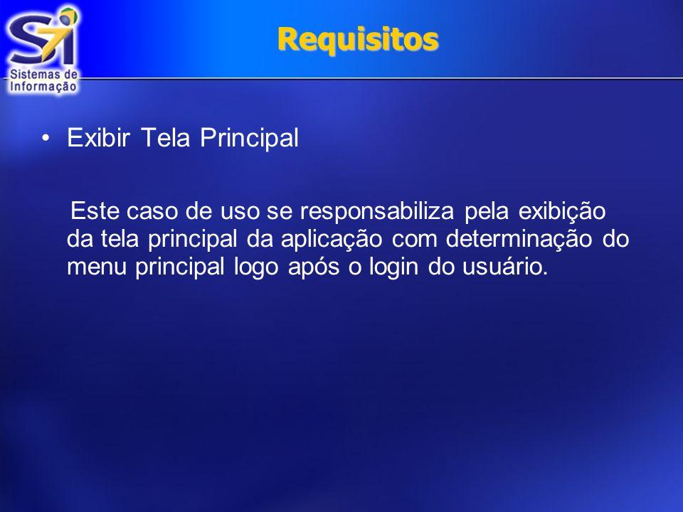 Requisitos Exibir Tela Principal