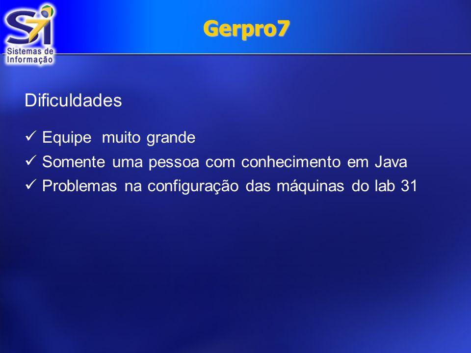 Gerpro7 Dificuldades Equipe muito grande
