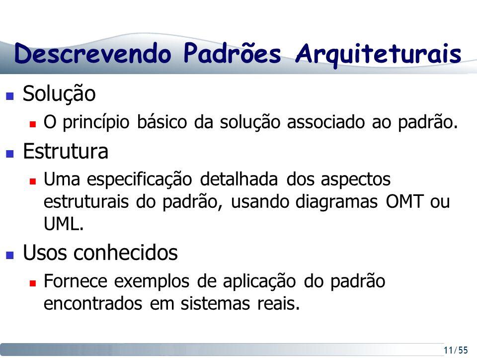 Descrevendo Padrões Arquiteturais