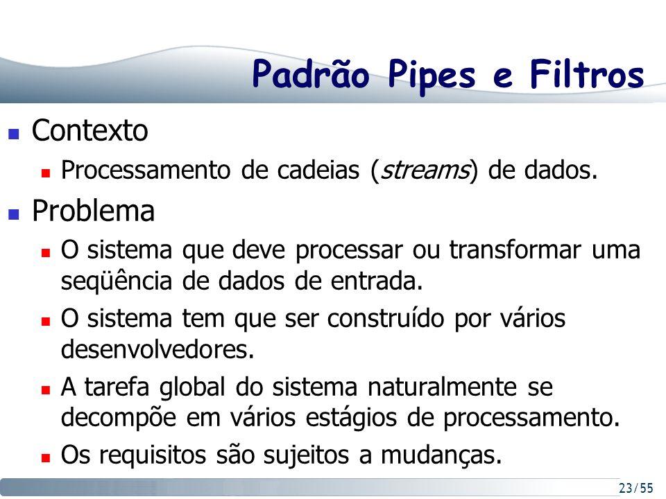 Padrão Pipes e Filtros Contexto Problema