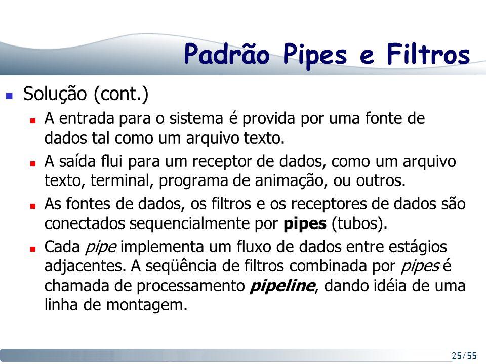 Padrão Pipes e Filtros Solução (cont.)
