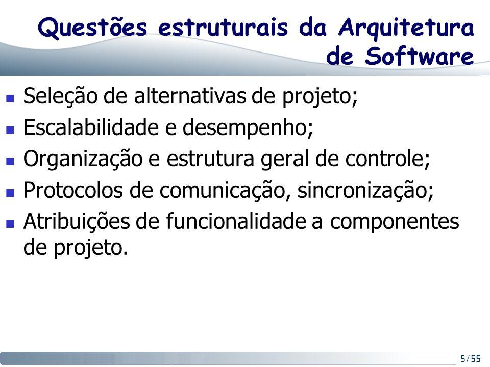 Questões estruturais da Arquitetura de Software