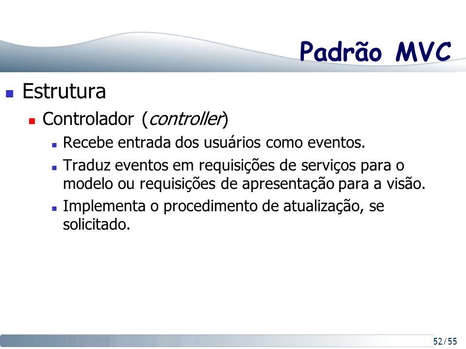 Padrão MVC Estrutura Controlador (controller)