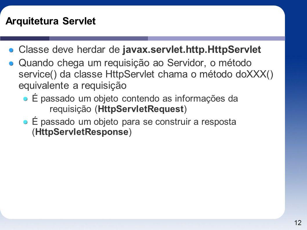 Classe deve herdar de javax.servlet.http.HttpServlet