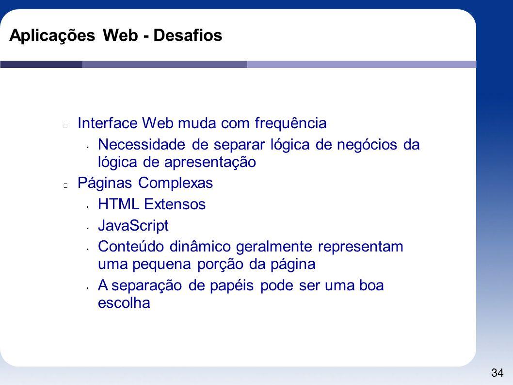 Aplicações Web - Desafios