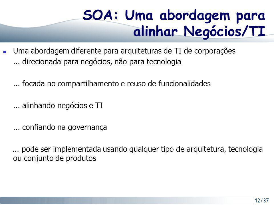 SOA: Uma abordagem para alinhar Negócios/TI