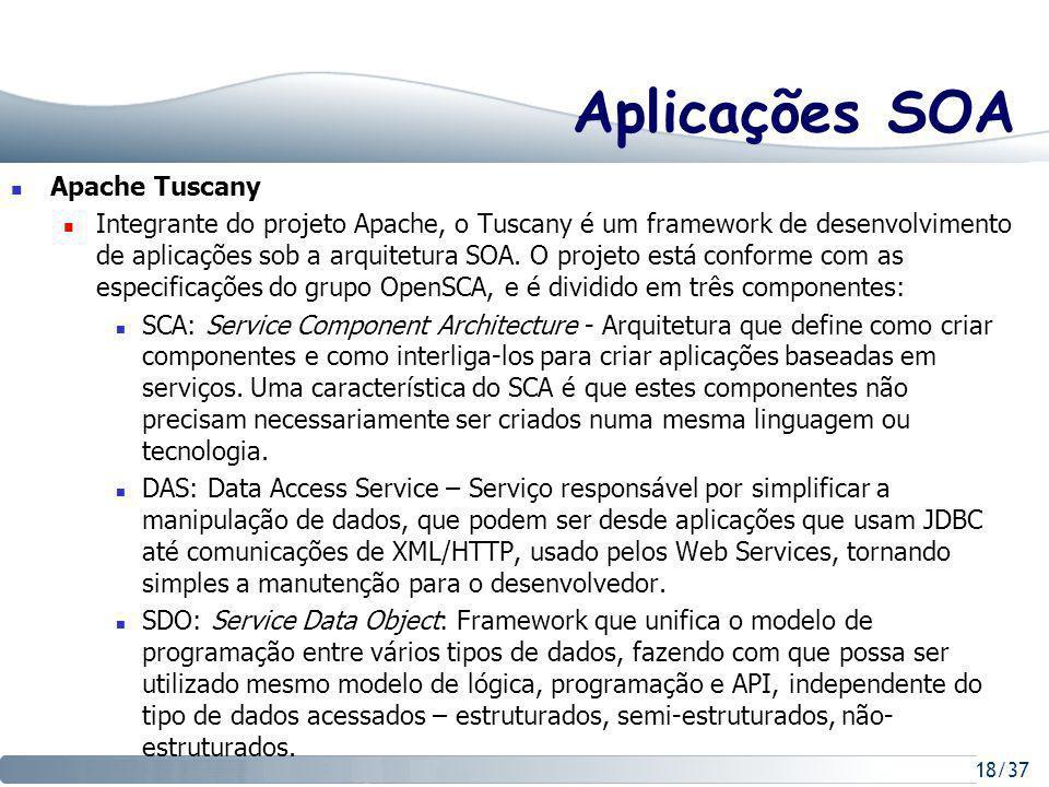 Aplicações SOA Apache Tuscany
